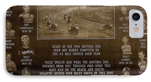 Daytona 200 Plaque Phone Case by David Lee Thompson