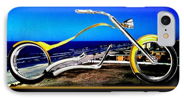 Daytona Beach Chopper Dreaming Yellow Gold Jgibney The Museum Phone Case by The MUSEUM Artist Series jGibney