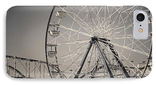Daytona Beach Ferris Wheel IPhone Case by Joan Carroll