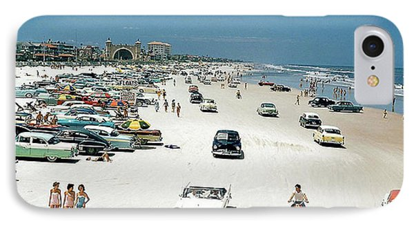 Daytona Beach Florida - 1957 IPhone Case by Merton Allen