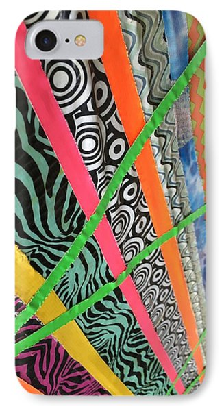 IPhone Case featuring the photograph Dazzling Delirious Duct Tape Diagonals by Douglas Fromm