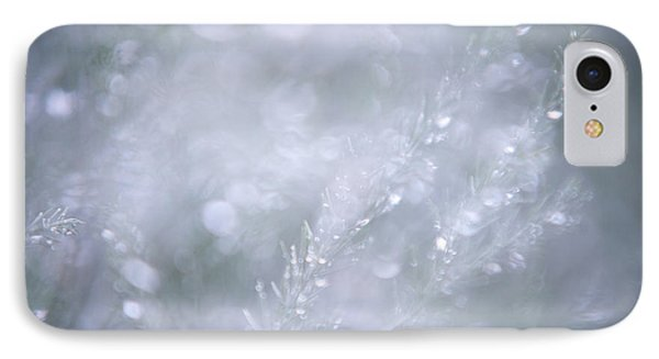 IPhone Case featuring the photograph Dazzling Silver World by Jenny Rainbow