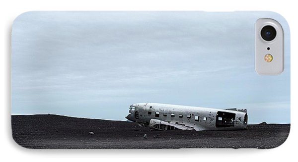 IPhone Case featuring the photograph Dc-3 Plane Wreck Iceland by Brad Scott