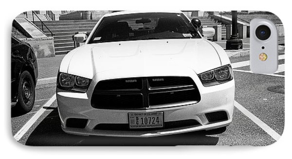 dc metropolitan police dodge charger pursuit cruiser  judiciary square Washington DC USA IPhone Case