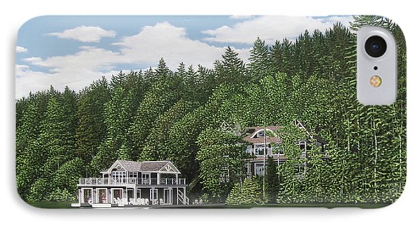 IPhone Case featuring the painting De Groote Summer Home Muskoka by Kenneth M Kirsch
