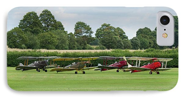 IPhone Case featuring the photograph De Havilland Tiger Moths Line-up by Gary Eason