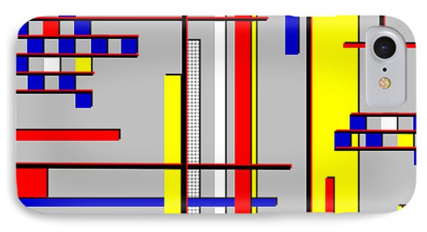 De Stijl Love IPhone Case