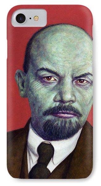 Dead Red - Lenin IPhone Case by James W Johnson