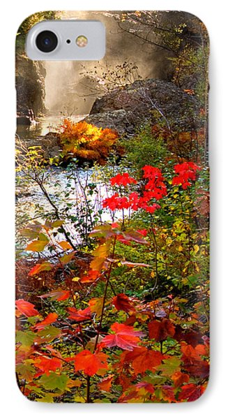 Dead River Falls Foreground Plus Mist 2509 IPhone Case by Michael Bessler