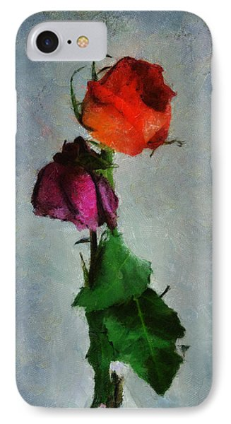 IPhone Case featuring the digital art Dead Roses by Francesa Miller