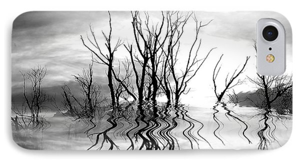 IPhone Case featuring the photograph Dead Trees Bw by Susan Kinney