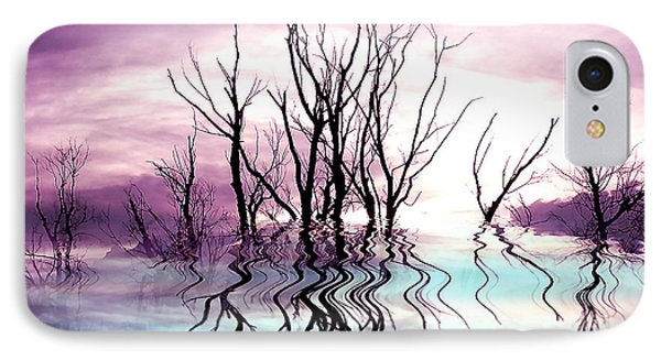 IPhone Case featuring the photograph Dead Trees Colored Version by Susan Kinney