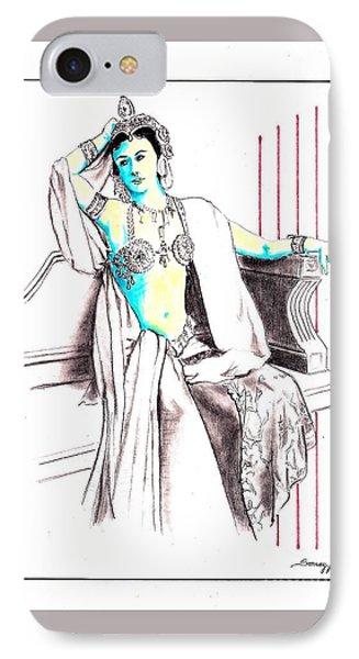 Deadly Diva, Mata Hari -- Portrait IPhone Case