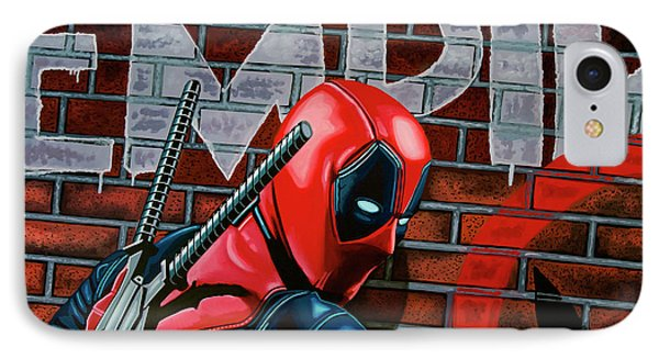 Deadpool Painting IPhone Case by Paul Meijering