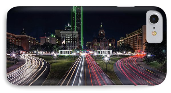 Dealey Plaza Dallas At Night IPhone Case