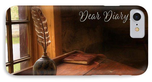 Dear Diary IPhone Case by Lori Deiter