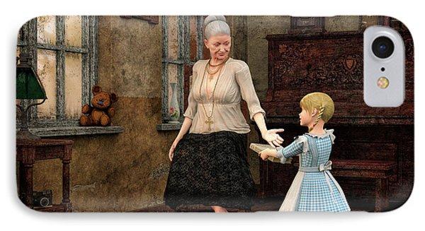 Dear Grandma IPhone Case by Jutta Maria Pusl