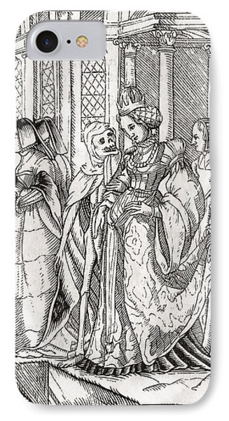 Death Comes For The Empress After Hans IPhone Case by Vintage Design Pics