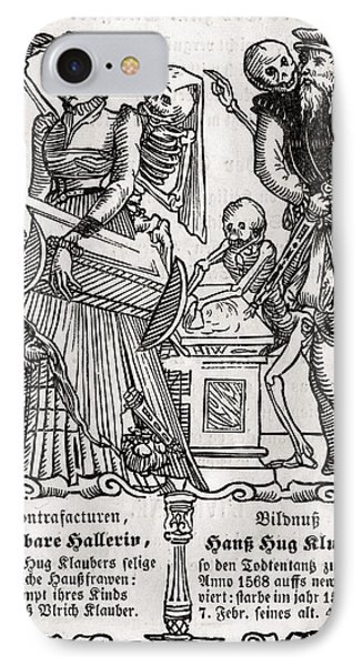 Death Comes For The Painter From Der IPhone Case by Vintage Design Pics