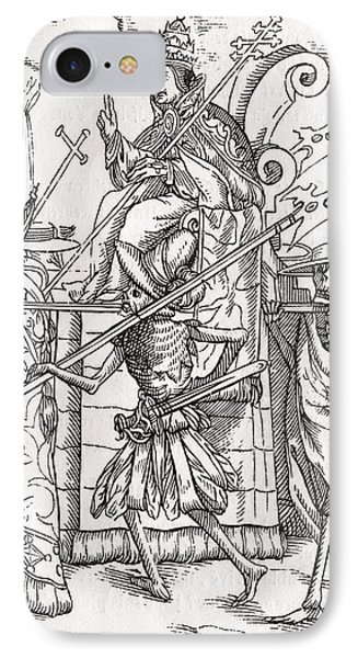 Death Comes For The Pope From Der IPhone Case by Vintage Design Pics