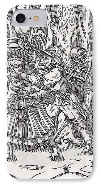 Death Comes For The Robber After Hans IPhone Case by Vintage Design Pics