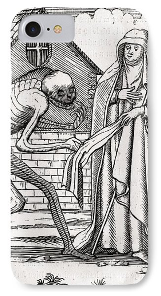 Death Comes To The Abbess From Der IPhone Case by Vintage Design Pics