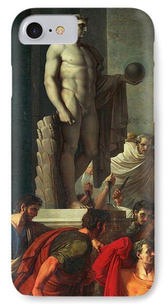 Death Of Caesar, March 15, 44 Bc IPhone Case by Vincenzo Camuccini