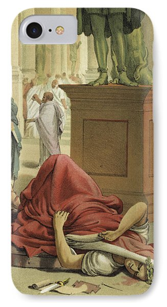 Death Of Julius Caesar, Rome, 44 Bc  IPhone Case by Spanish School