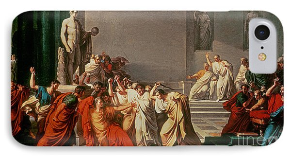 Death Of Julius Caesar IPhone Case by Vincenzo Camuccini