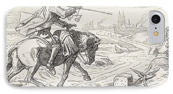 Death On Horseback From Alfred Rethel S IPhone Case by Vintage Design Pics