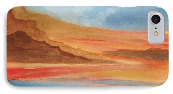 IPhone Case featuring the painting Death Valley by Ellen Levinson