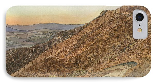 IPhone Case featuring the painting Death Valley From Dante's View  A November Sunset by Joel Deutsch
