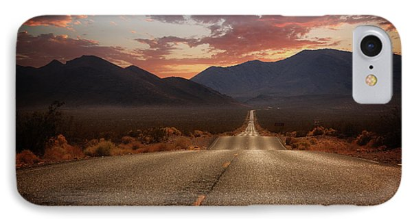 Death Valley Highway II IPhone Case by Ricky Barnard
