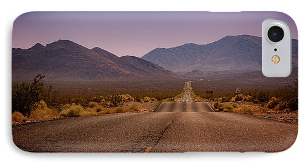 Death Valley Highway IPhone Case by Ricky Barnard