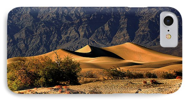 Death Valley's Mesquite Flat Sand Dunes Phone Case by Christine Till