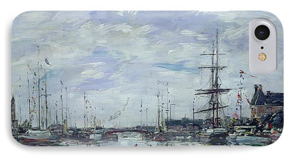 Deauville The Dock Phone Case by Eugene Louis Boudin