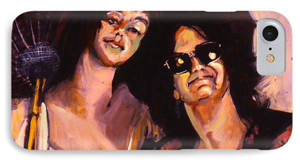 IPhone Case featuring the painting Debbie And Kate by Les Leffingwell