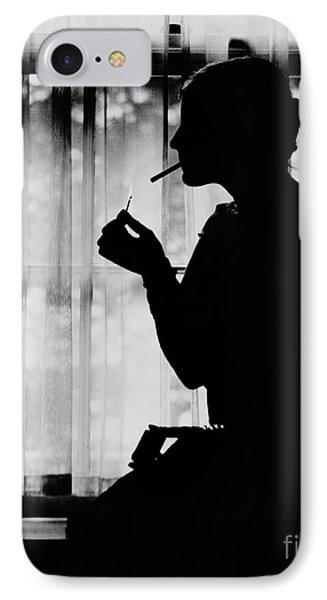 Debutante Smoking 1920 IPhone Case by Padre Art
