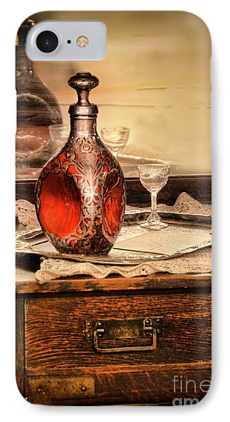 Decanter And Glass IPhone Case by Jill Battaglia