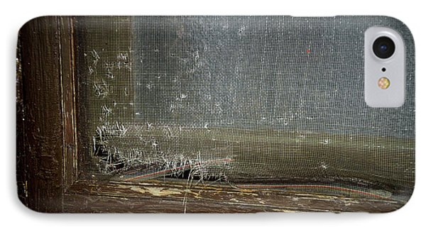 Decaying Window Screen IPhone Case by Thomas Woolworth