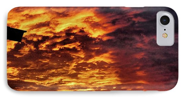 IPhone Case featuring the painting December Austin Sunset  by Layne William LoMaglio