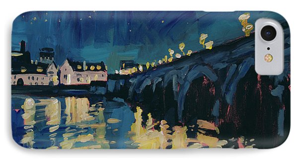 December Lights At The Old Bridge IPhone Case by Nop Briex