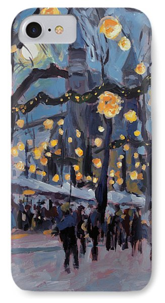 December Lights At The Our Lady Square Maastricht 1 IPhone Case by Nop Briex