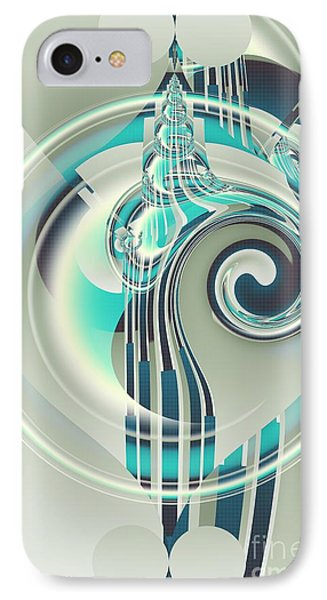 IPhone Case featuring the digital art December by Michelle H