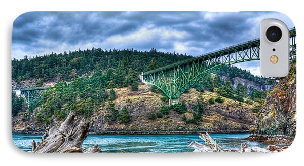Deception Pass Bridge IPhone Case by David Patterson
