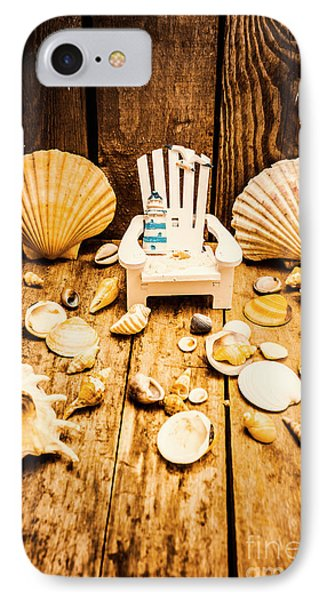Deckchairs And Seashells IPhone Case by Jorgo Photography - Wall Art Gallery