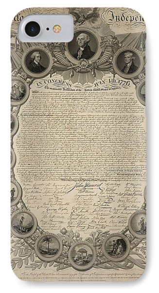 Declaration Of Independence IPhone Case by John Binns