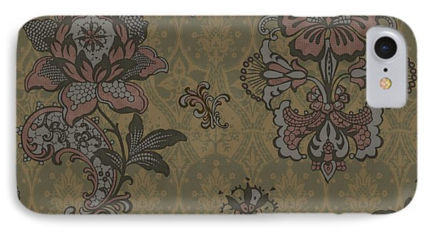 Deco Flower Brown Phone Case by JQ Licensing