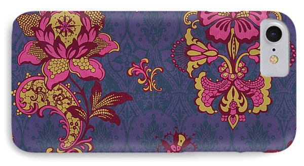 Deco Flower Purple IPhone Case by JQ Licensing