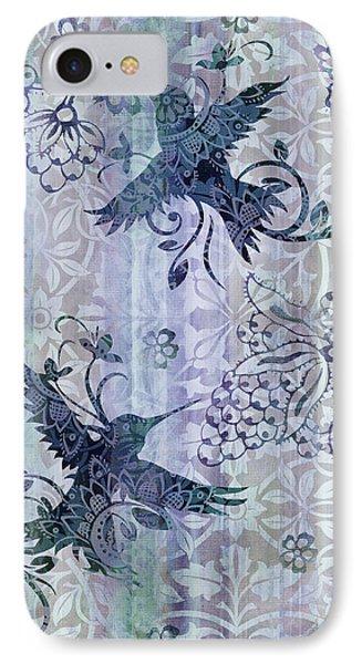 Deco Hummingbird Blue Phone Case by JQ Licensing